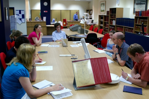 Catalogue team meeting back in 2006. Recognise any familiar faces?