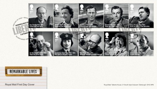 Remarkable Lives First Day Cover