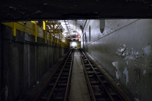 Entrance to Mail Rail tunnels from Mount Pleasant.