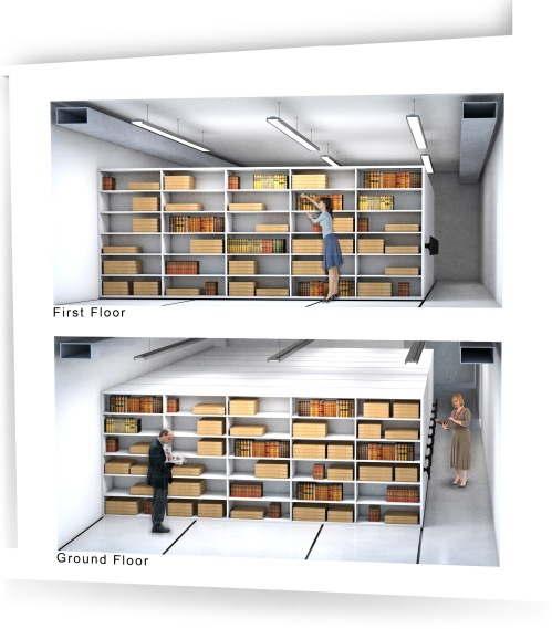 Artist impression of the new repository at The Postal Museum.