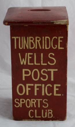 Tunbridge Wells Post Office Sports Club Collection Box (OB1994.111).