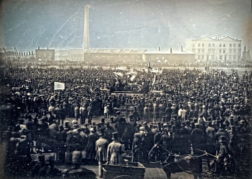 William Edward Kilburn - View of the Great Chartist Meeting on Kennington Common.