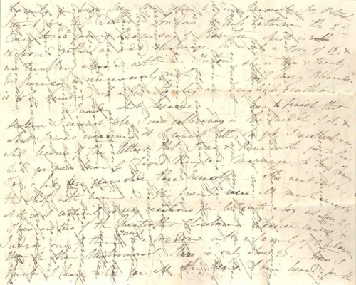 Cross written letter, 1827.