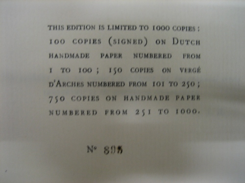 Inside page of Ulysses in The Royal Mail Archive.