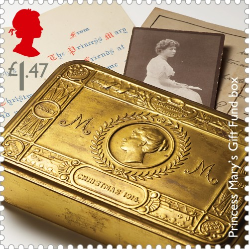 Images of Princess Mary's Gift Fund box, 1st class.