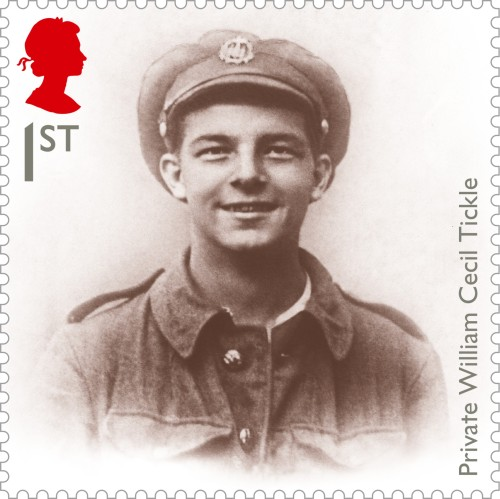 Private Tickle, an underage soldier who was killed during the Battle of the Somme, 1sr class.