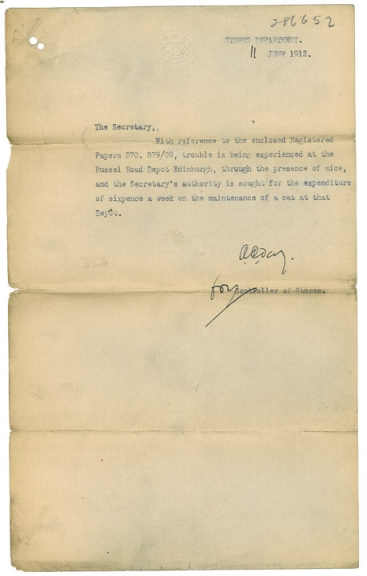 Letter requesting a cat (POST 121/206).