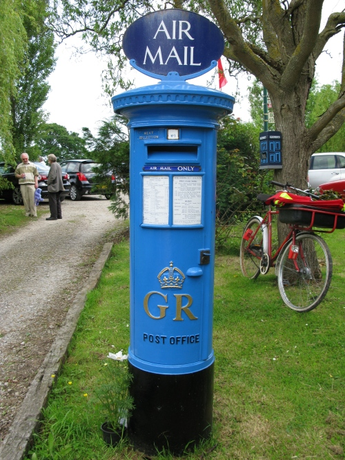 Our airmail pillar box.
