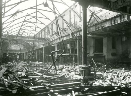 Serious bomb damage at Mount Pleasant during the Second World War.