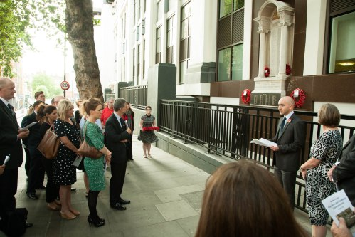 4 August - First World War commemoration ceremony at Mount Pleasant memorial.