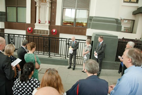 4 August commemoration event at the Mount Pleasant Memorial.
