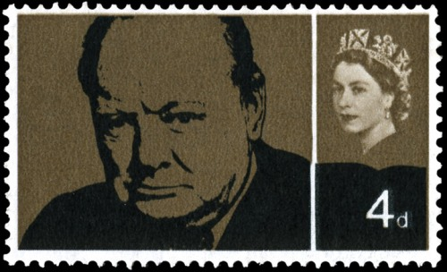 Winston Churchill memorial stamp, 4d.