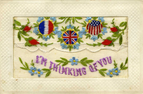 Embroidered postcard. (OB1995-64)