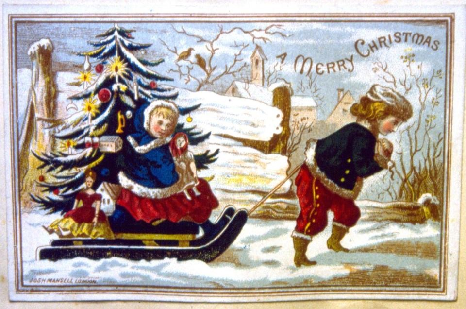 talk glad tidings a history of the christmas card the british
