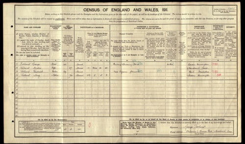 1911 census record, St Lawrence, Hornchurch