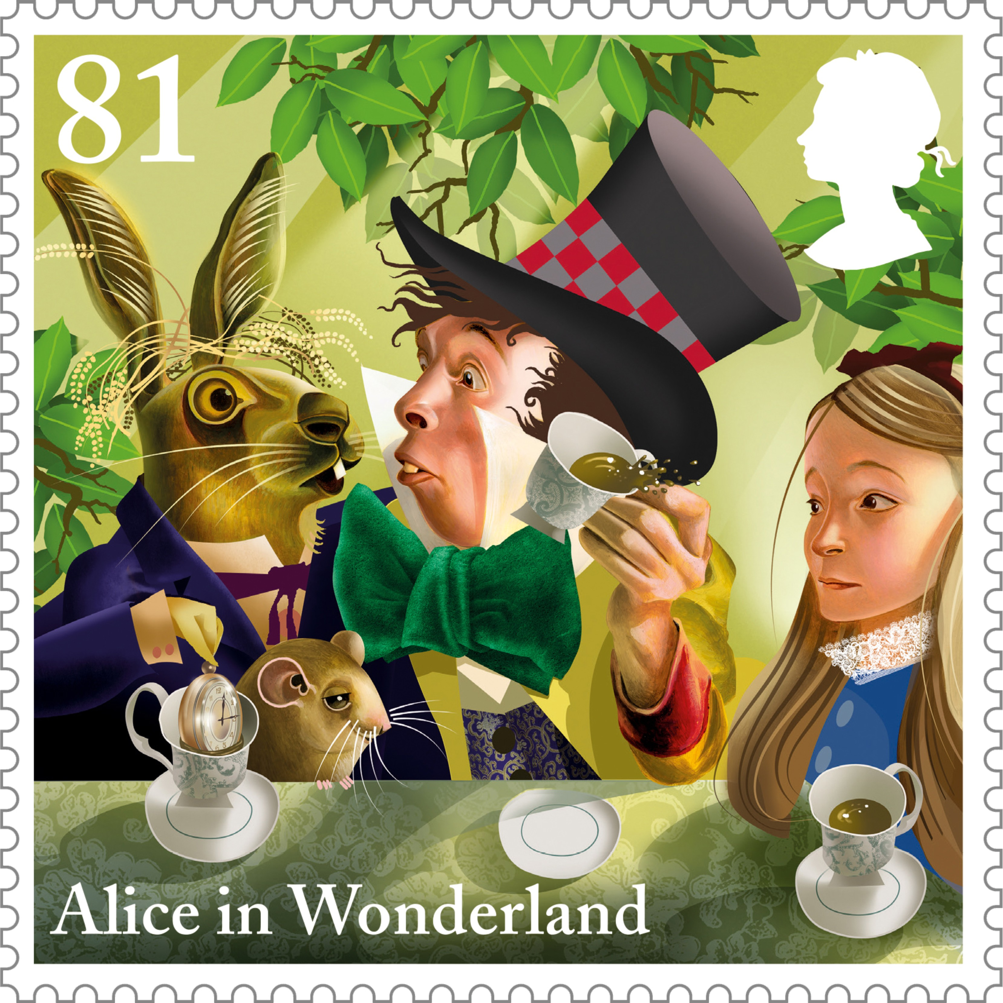 New Stamps Alice In Wonderland The British Postal