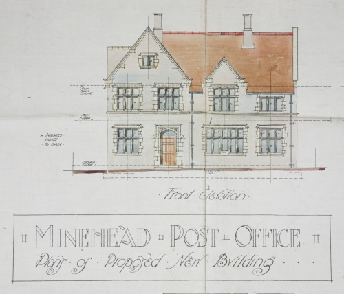 Design opportunities were limited for Frederick Palmer, the architect employed by the PO, although his design for Minehead survives in the archives