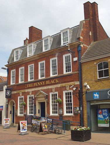 "An old post office now a pub. ""The Penny Black"", Bicester (1914) (architect Henry A. Collins)"
