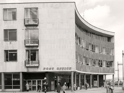 Front cover image: Plymouth Post Office (1957) (architect Cyril Pinfold)