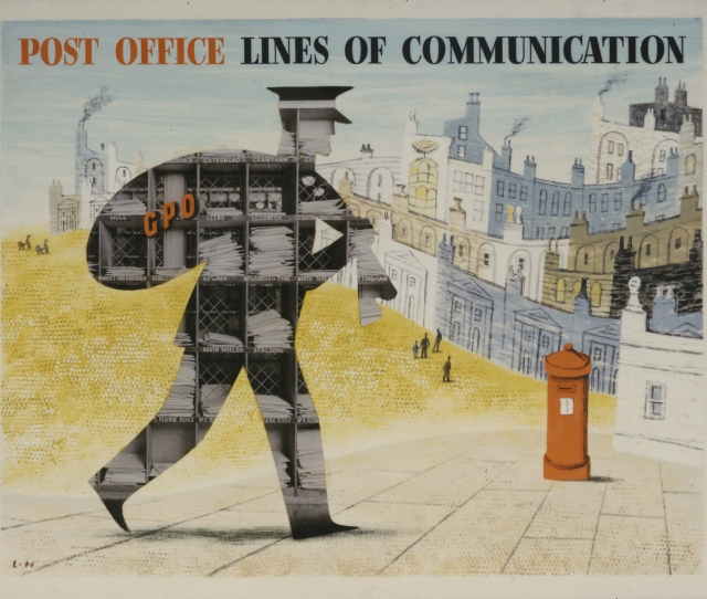 Post   Post Office Lines Of Communication Poster Artwork By Lewitt Him
