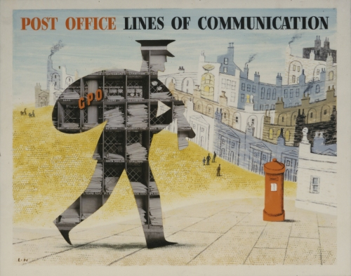 POST 109/517 Post Office Lines of Communication, poster artwork by Lewitt-Him, c.1950