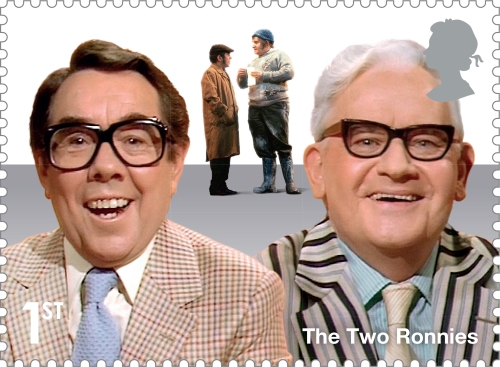 Comedy Greats The Two Ronnies Stamp 400%