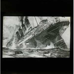 'WRECK OF THE LUSITANIA' - Lantern Slide, 2012-0126/06