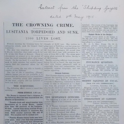 image of newspaper cutting, POST 29/1277A