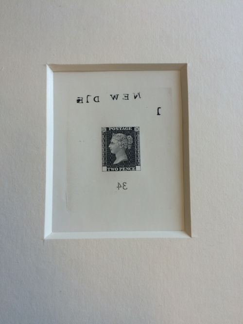 One lucky winner will go home with a print from the original Penny Black die - visit our stand this week for more details