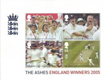 England's Ashes Victory 2005 Miniature Sheet