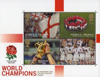 England's Victory in Rugby World Cup Championship, Australia 2003 Miniature Sheet