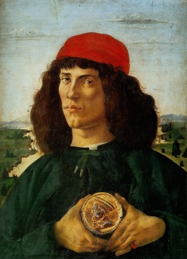 Sandro Botticelli 'Portrait of a Man with a Medal of Cosimo the Elder' c1474-75