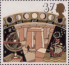 Astronomy, Stonehenge, Gyroscope and Navigation by Stars 39p Stamp (1990)