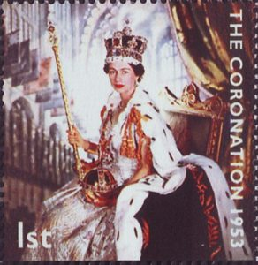 50th Anniversary of Coronation 1st Stamp (2003) Queen Elizabeth II in Coronation Robes