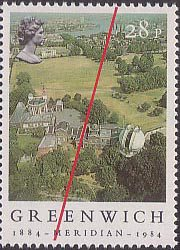 Centenary of Greenwich Mean Time, Greenwich Observatory 28p Stamp (1984)