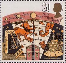 Astronomy, Greenwich Old Observatory and Early Astronomical Equipment, 31p Stamp (1990)