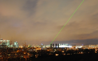 Greenwich Prime Meridian Laser Across London