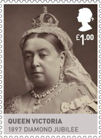 Kings & Queens, House of Hannover £1.00 Stamp (2011) Queen Victoria 1897 Diamond Jubilee