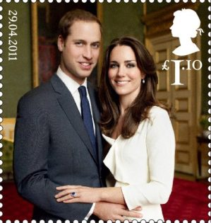 Royal Wedding of His Royal Highness Prince William and Miss Catherine Middleton £1.10 Stamp (2011)