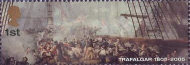 Bicentenary of the Battle of Trafalgar (1st issue) 1st Stamp (2005)