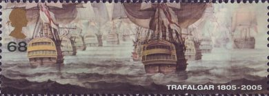 Bicentenary of the Battle of Trafalgar (1st issue) 68p Stamp (2005)