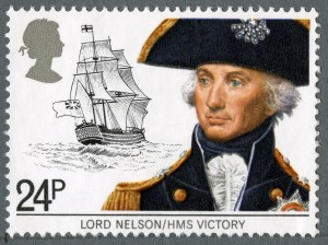 Maritime Hertiage 24p Stamp (1982) Lord Nelson and HMS Victory
