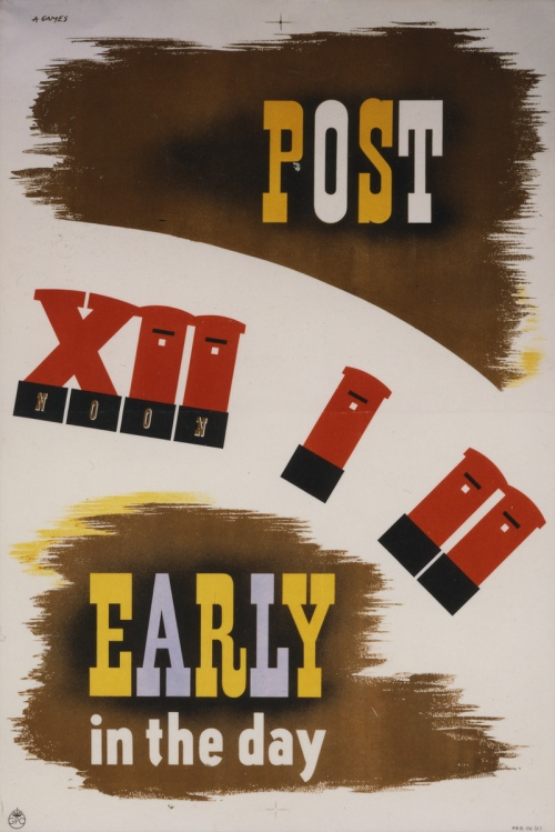 Poster advising on the best time to post mail. Poster artist: Games, Abram