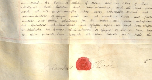 Signature and Seal belonging to Edward Randall Pascoe Crop