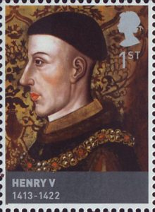 The Houses of Lancaster and York 1st Stamp (2008) Henry V (1413-22)