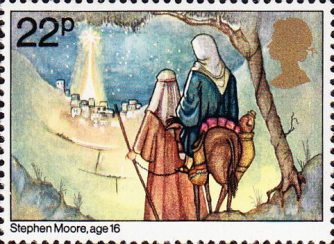 22p, Joseph and Mary arriving at Bethlehem from Christmas. Through The Eyes of a Child (1981)