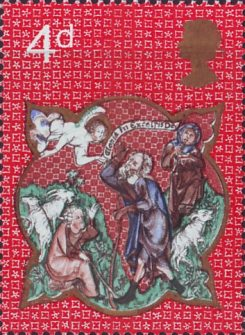 Christmas 4d Stamp (1970) Sheperds and Apparition of the Angel