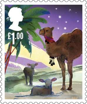 Christmas £1.00 Stamp (2015) The animals of the Nativity