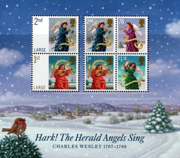 Hark! The Herald Angel Sing, Christmas Miniature Sheet 2007