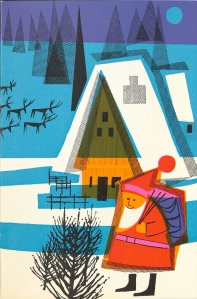Letter from Santa card cover 1963